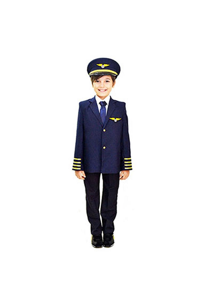 Pilot Çocuk Kostümü 5-6 Yaş 1 Adet