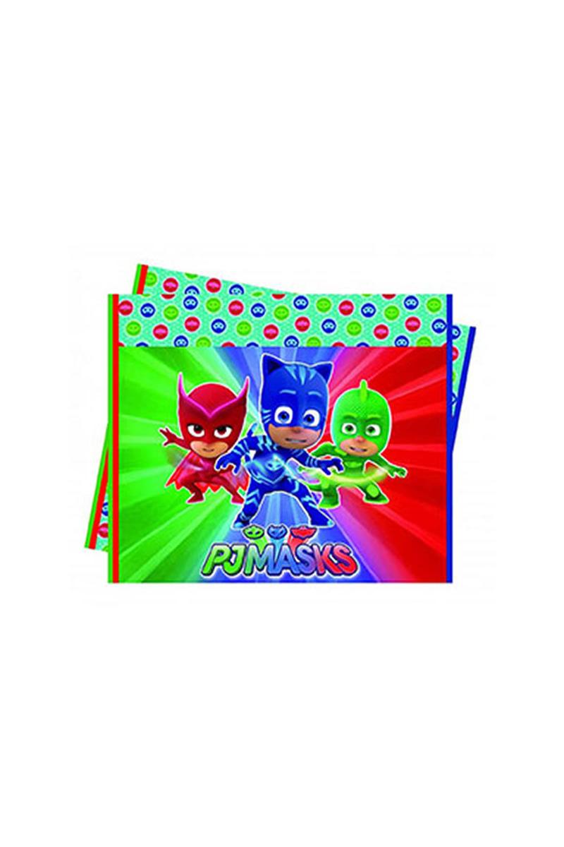Pj Masks-Pija Maskeliler Plastik Masa Örtüsü 120cm x 180cm 1 Adet