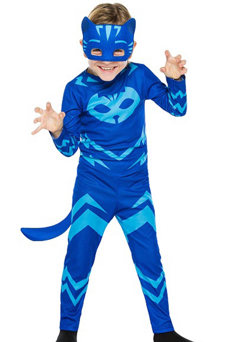 Pj Masks-PijaMaskeliler Kedi Çocuk Kostümü 4-6 Yaş 1 Adet