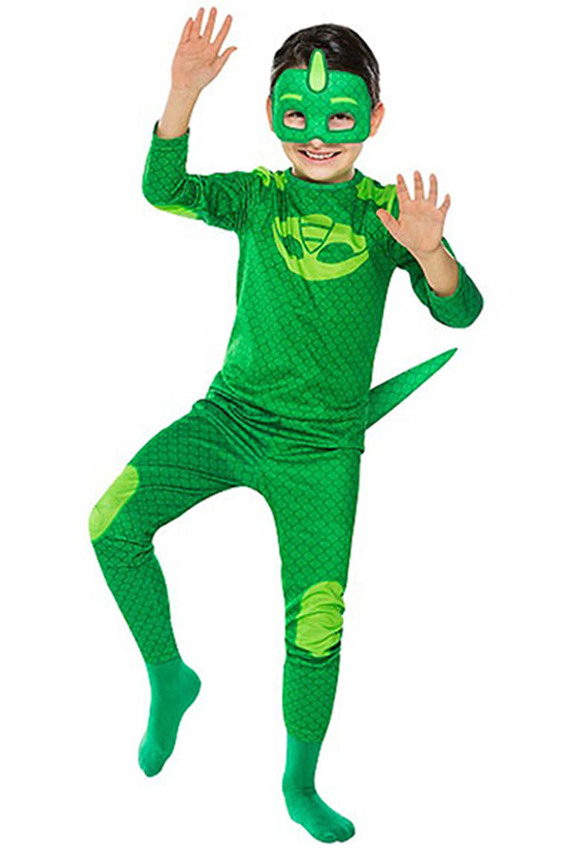 Pj Masks-PijaMaskeliler Kertentele Çocuk Kostüm 7-9 Yaş 1 Adet
