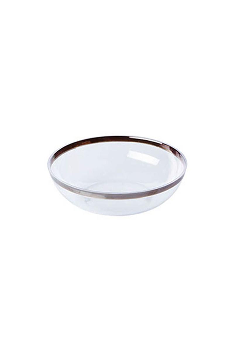 Lüks Plastik Salata Kasesi Şeffaf 14 x 4cm 6lı
