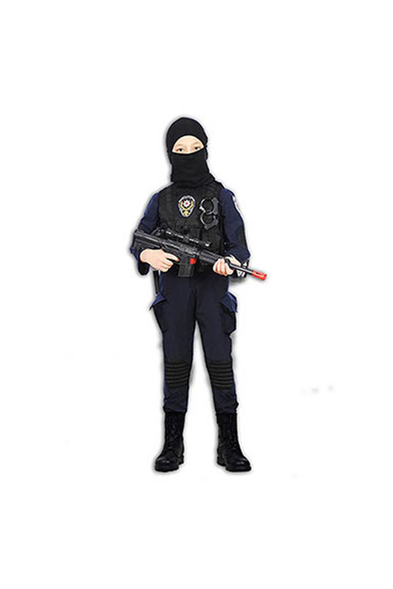 Polis Özel Harekat Timi Çocuk Kostümü 11-12 Yaş 1 Adet - Thumbnail