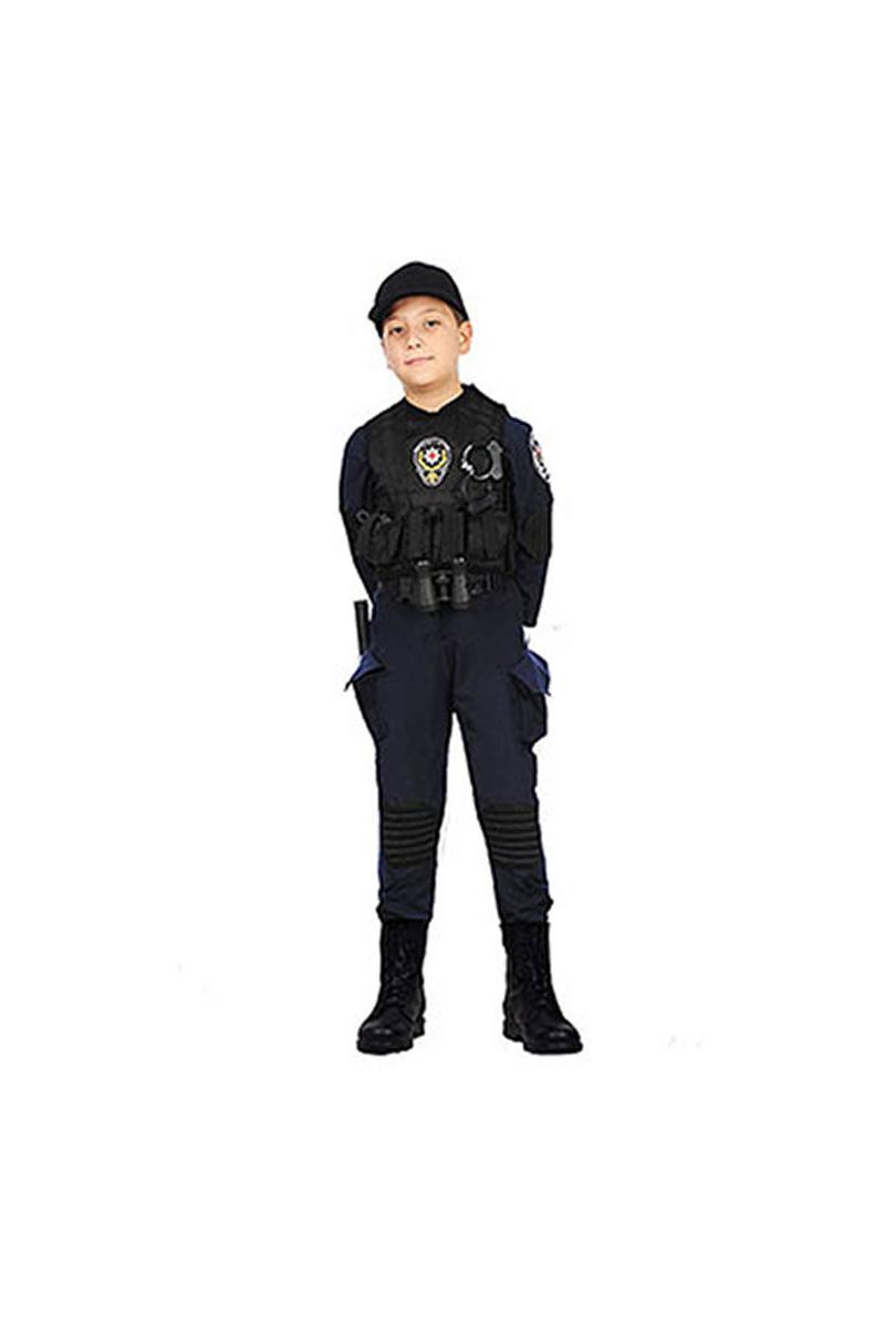 Polis Özel Harekat Timi Çocuk Kostümü 11-12 Yaş 1 Adet