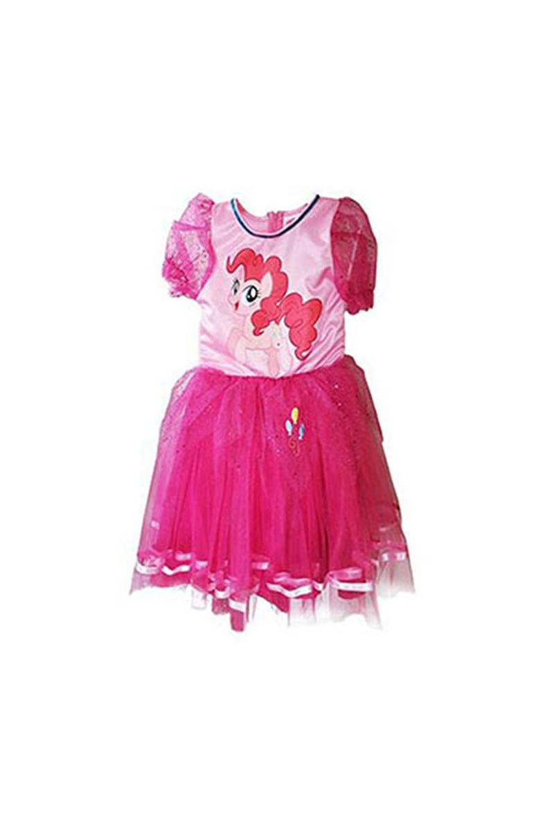 Pony Pinkie Pie Simli Kostüm 7-9 Yaş 1 Adet - Thumbnail