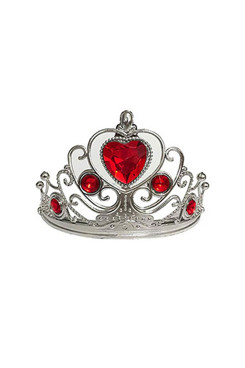 Kırmızı Kalp Taşlı Taç 1 Adet