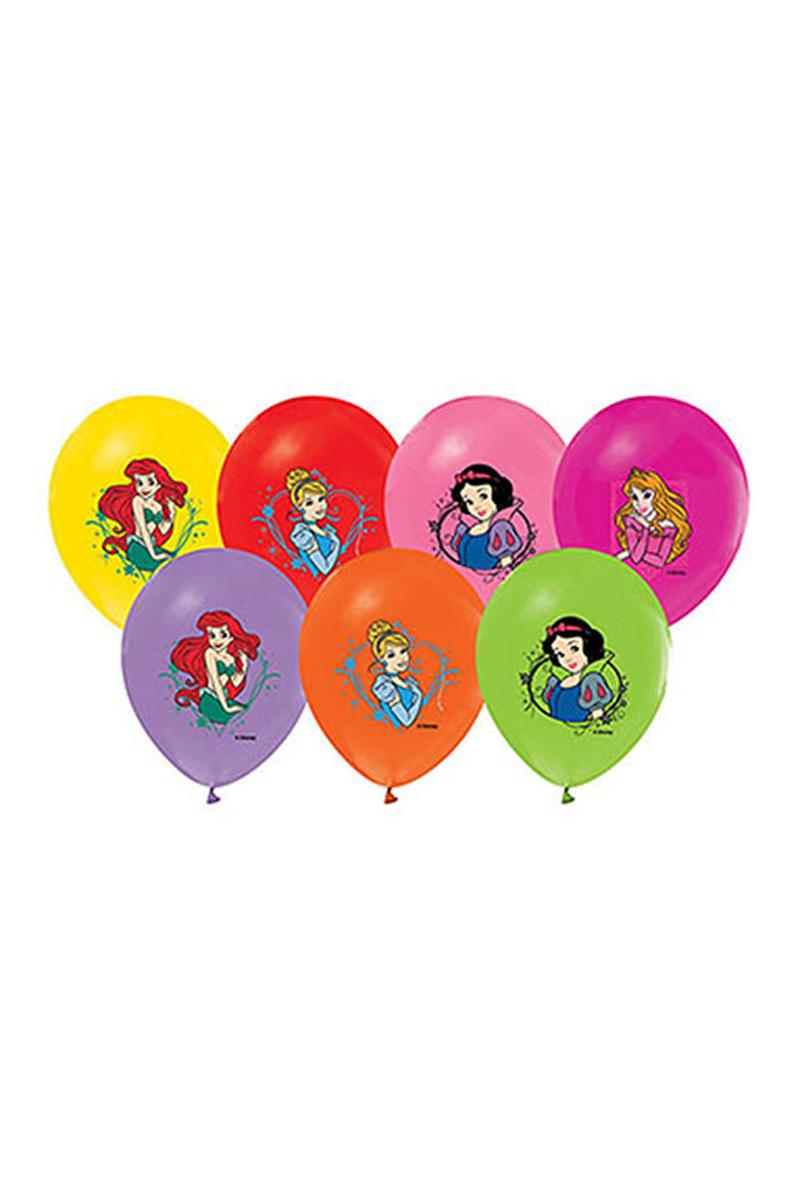 Prensesler Baskılı Balon 10lu