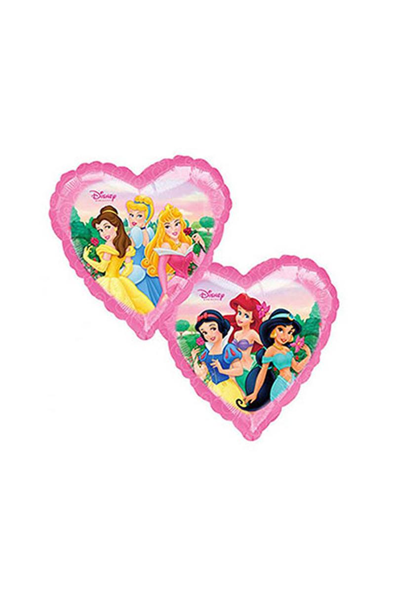 Prensesler Kalp Folyo Balon 45cm 1 Adet