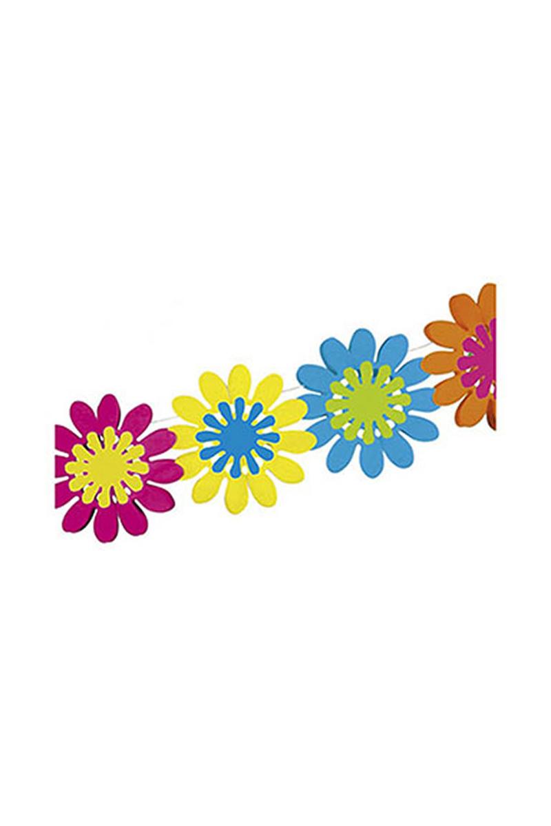 Renkli Çiçekler Zincir Süs 1 Adet
