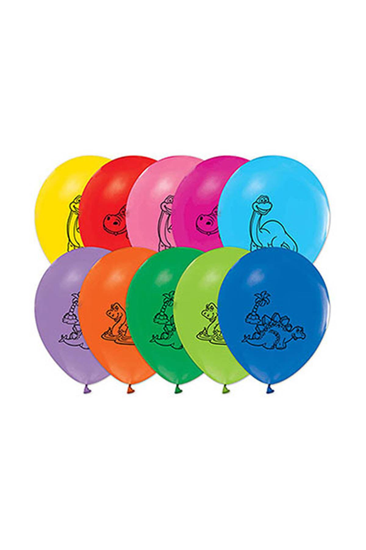Renkli Dinozorlar Balon