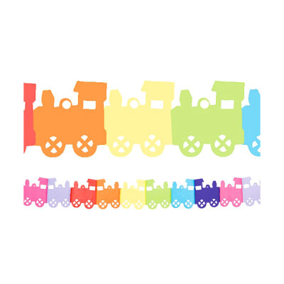 Renkli Trenler Zincir Süs
