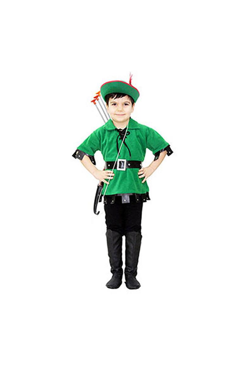 Robin Hood Çocuk Kostümü 5-6 Yaş 1 Adet - Thumbnail
