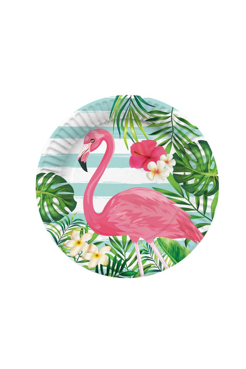 Roll-Up Flamingo Karton Tabak 23cm 8li