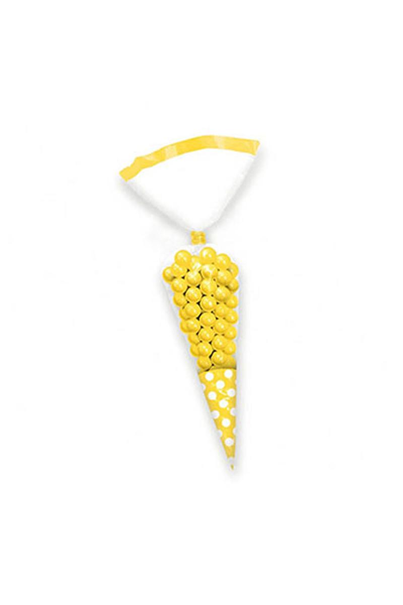 Sarı Konik Şeker Poşeti 10lu