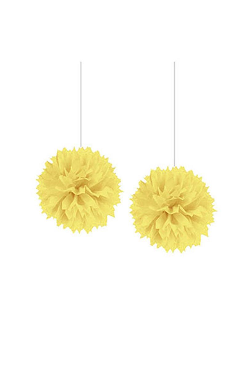 Ponpon Süs Sarı 2li