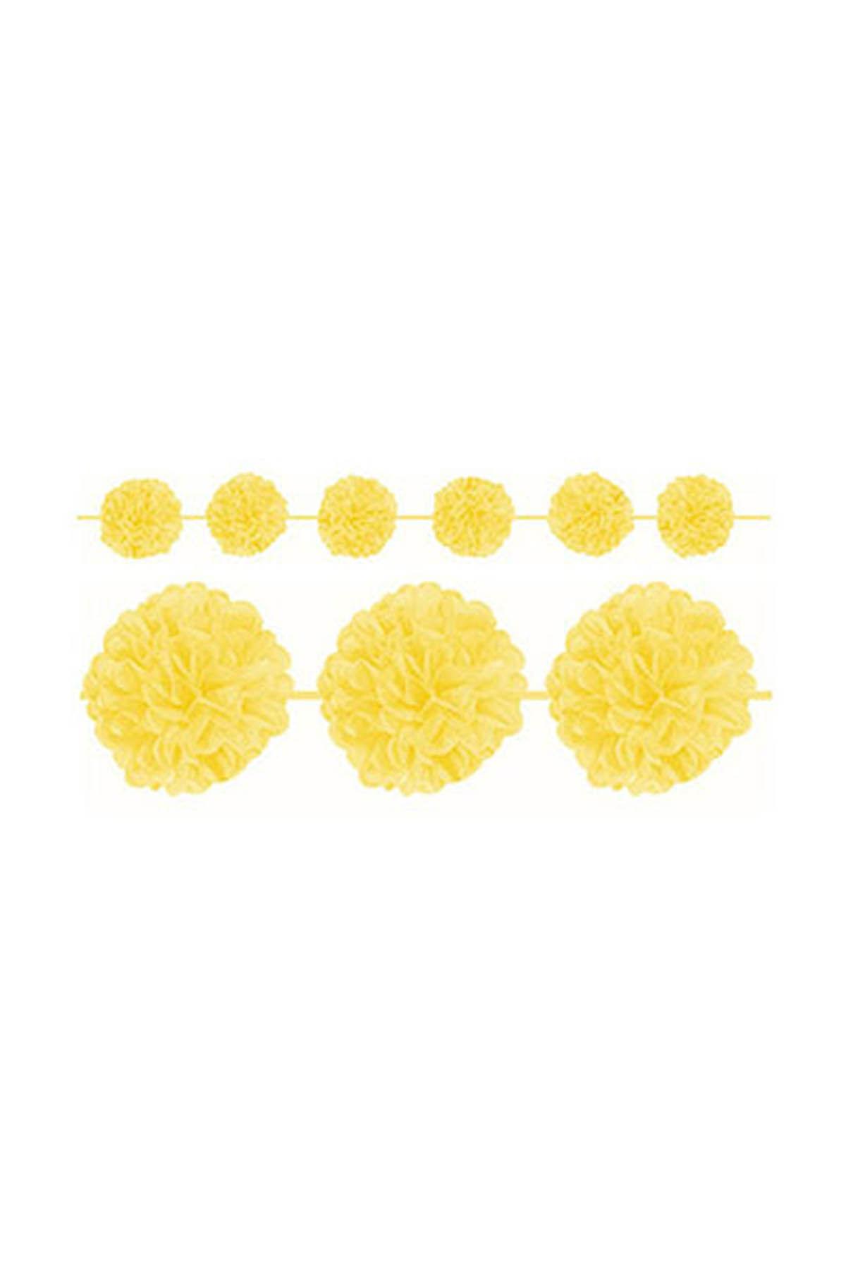 Sarı Ponpon Uzar Süs