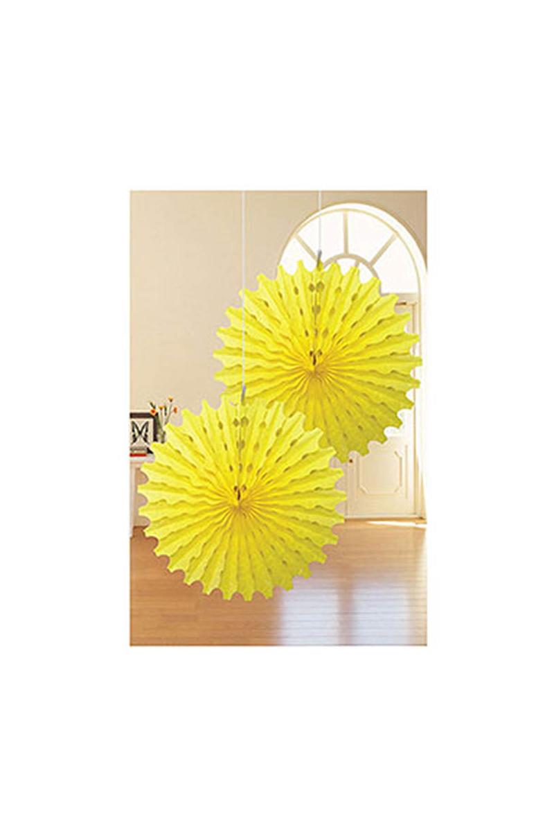 Sarı Yelpaze Süs 50cm 2li