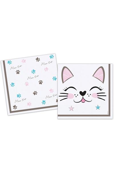 Sevimli Kedi Kağıt Peçete 33x33cm 20li