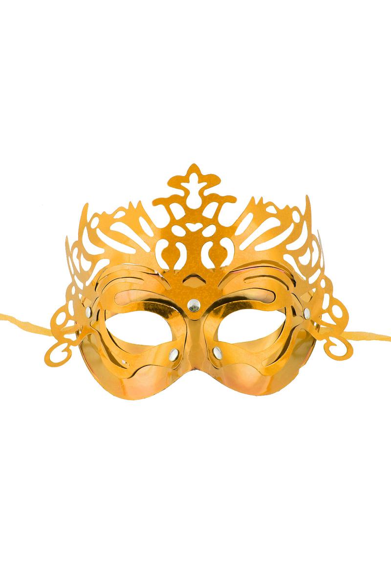 Simli Balo Maske Altın 1 Adet