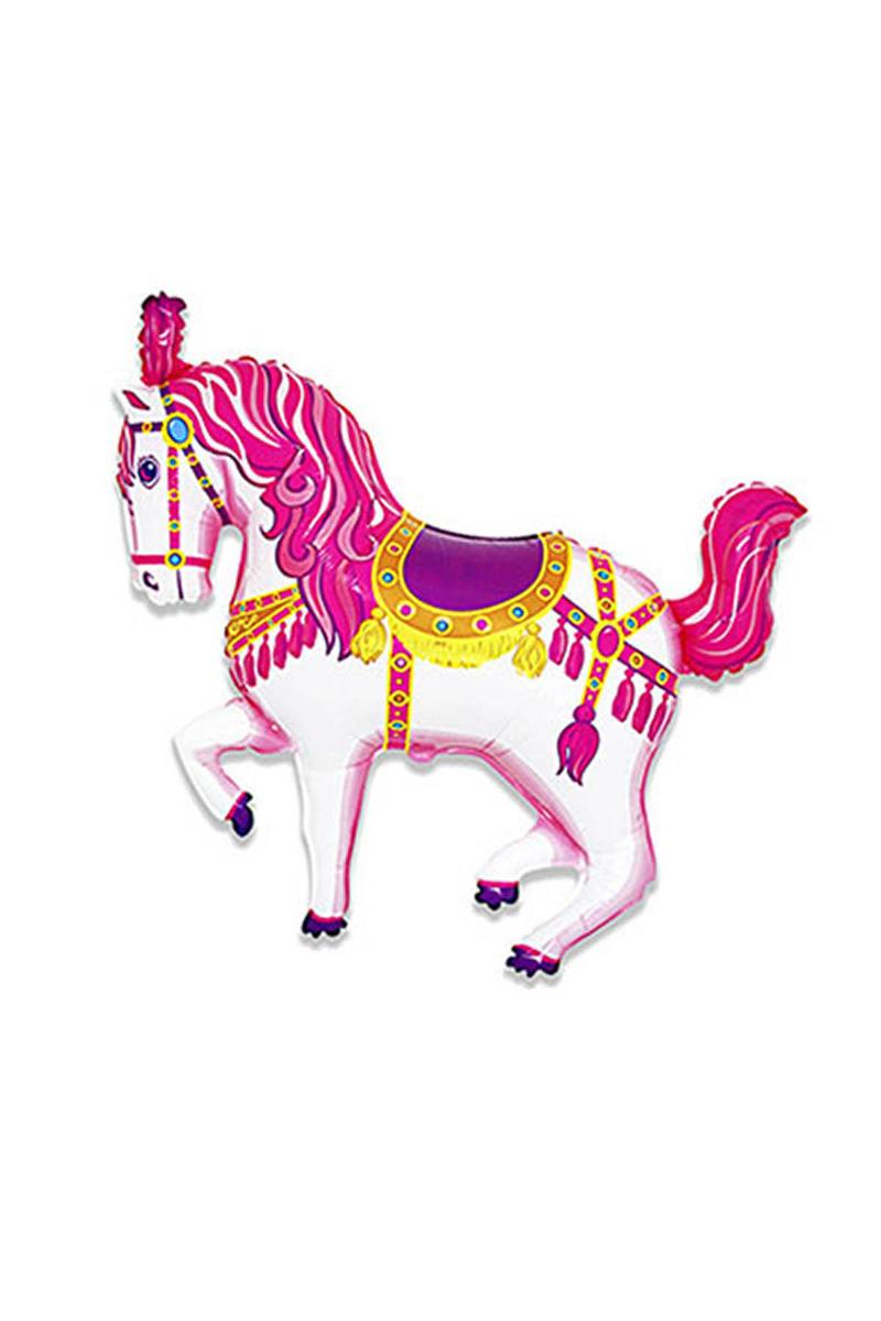 Sirk Atı Minishape Folyo Balon Pembe 40cm x 30cm 1 Adet