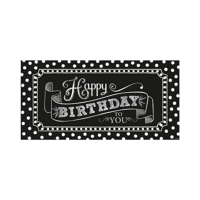 Siyah Beyaz Happy Birthday Parti Afişi