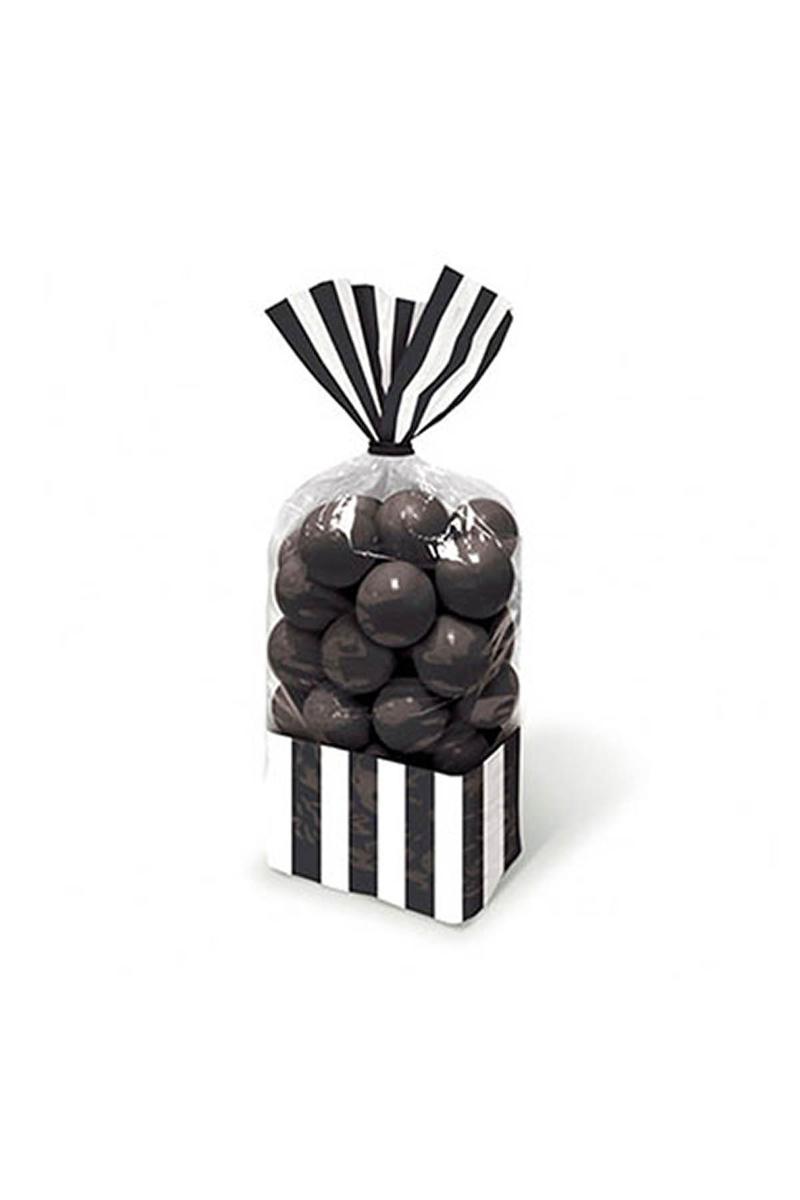 Siyah Çizgili Şeker Poşeti 10lu