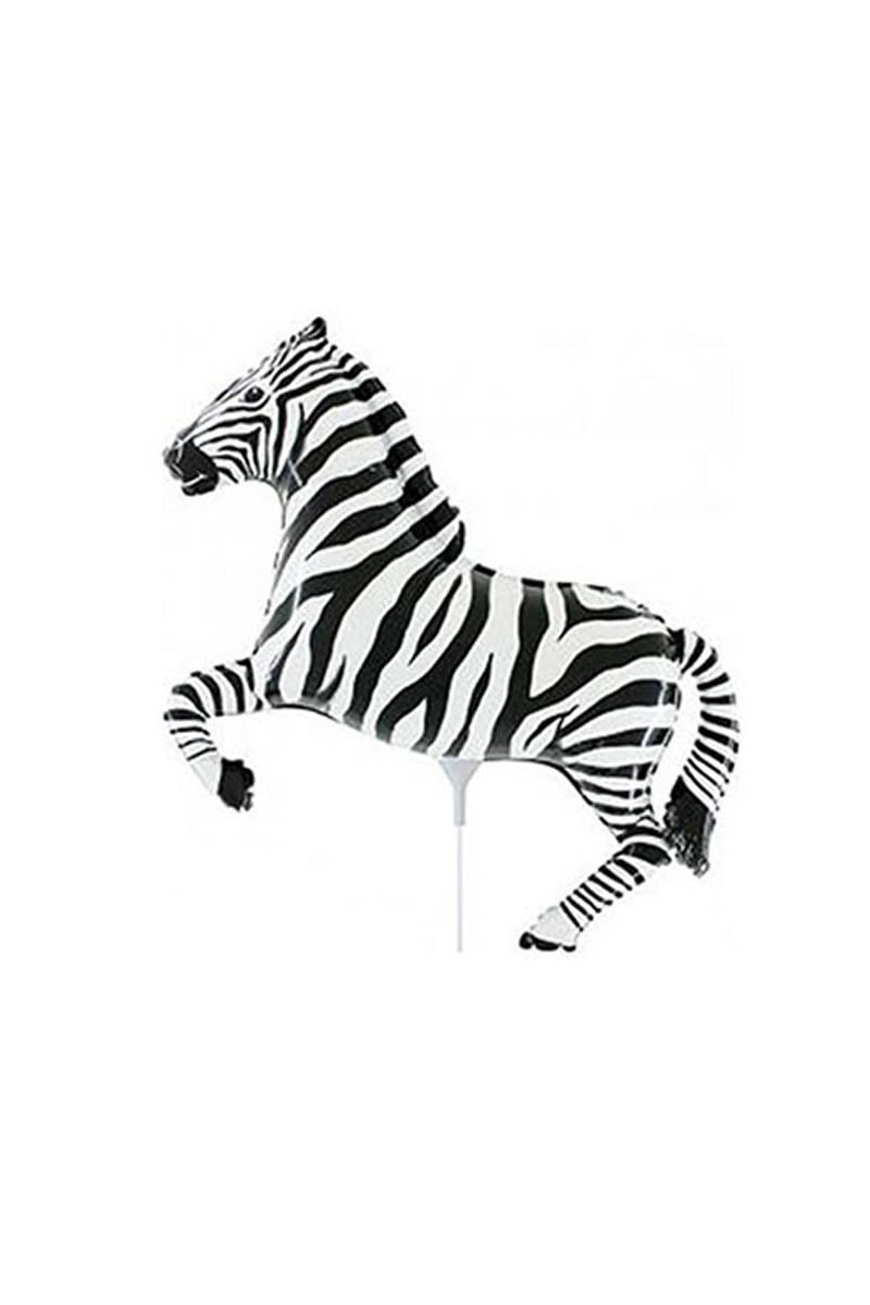 Siyah Zebra Minishape Folyo Balon 35cm 1 Adet