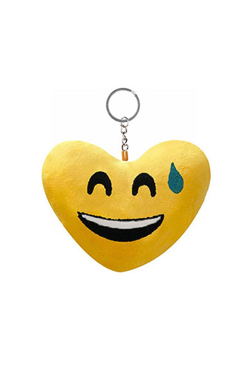 Soğuk Terler Döken Kalp Şeklinde Emoji Anahtarlık 1 Adet