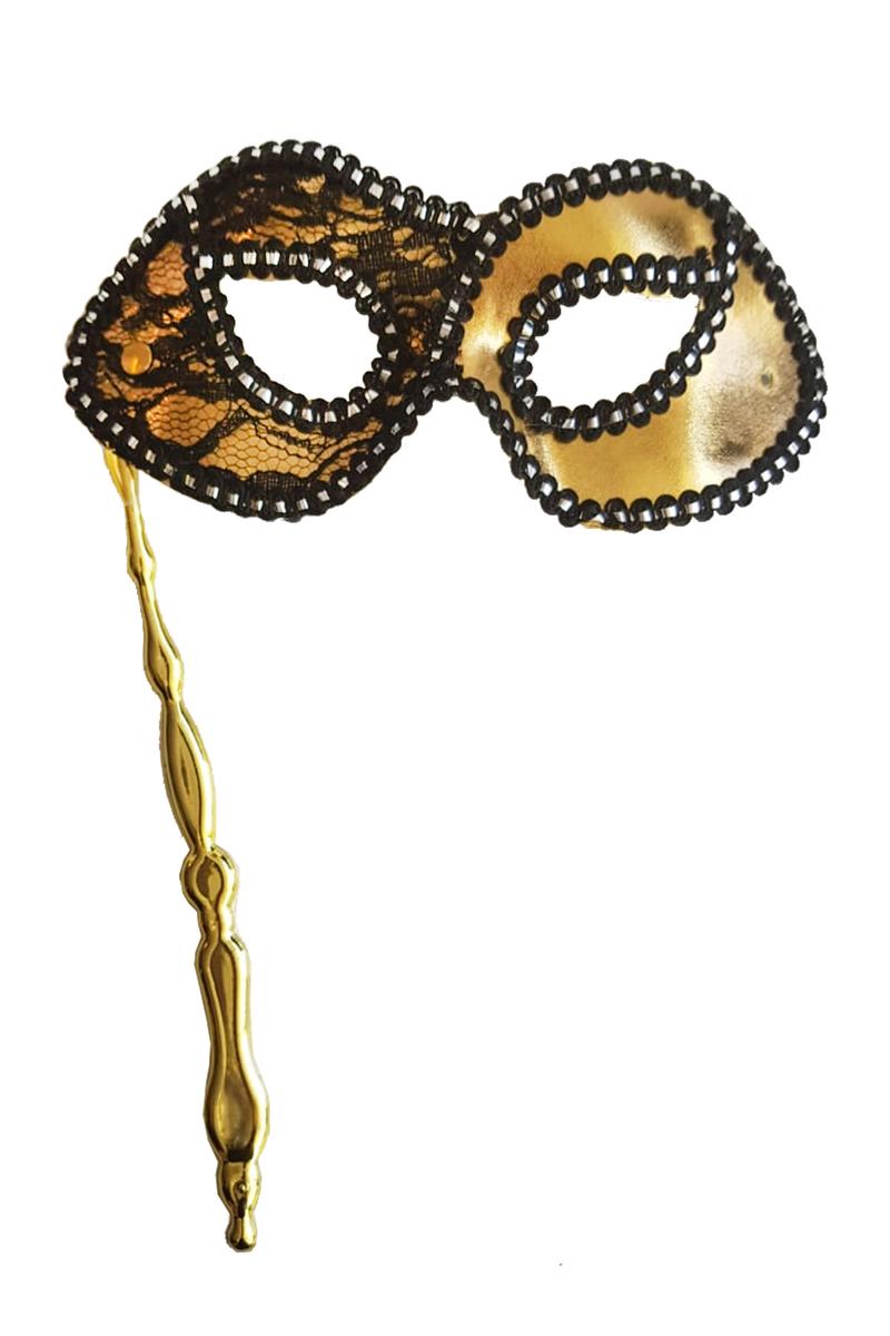 Sopalı Kumaş Balo Maske Altın 1 Adet