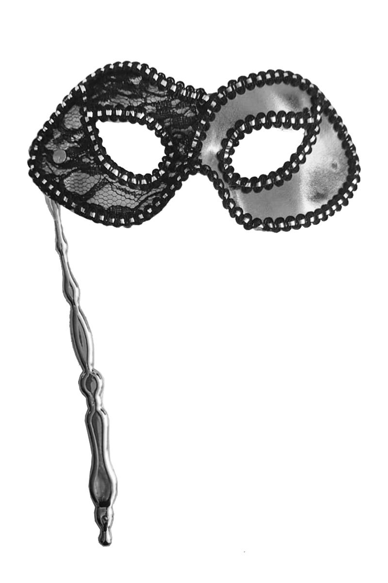 Sopalı Kumaş Balo Maske Gümüş 1 Adet