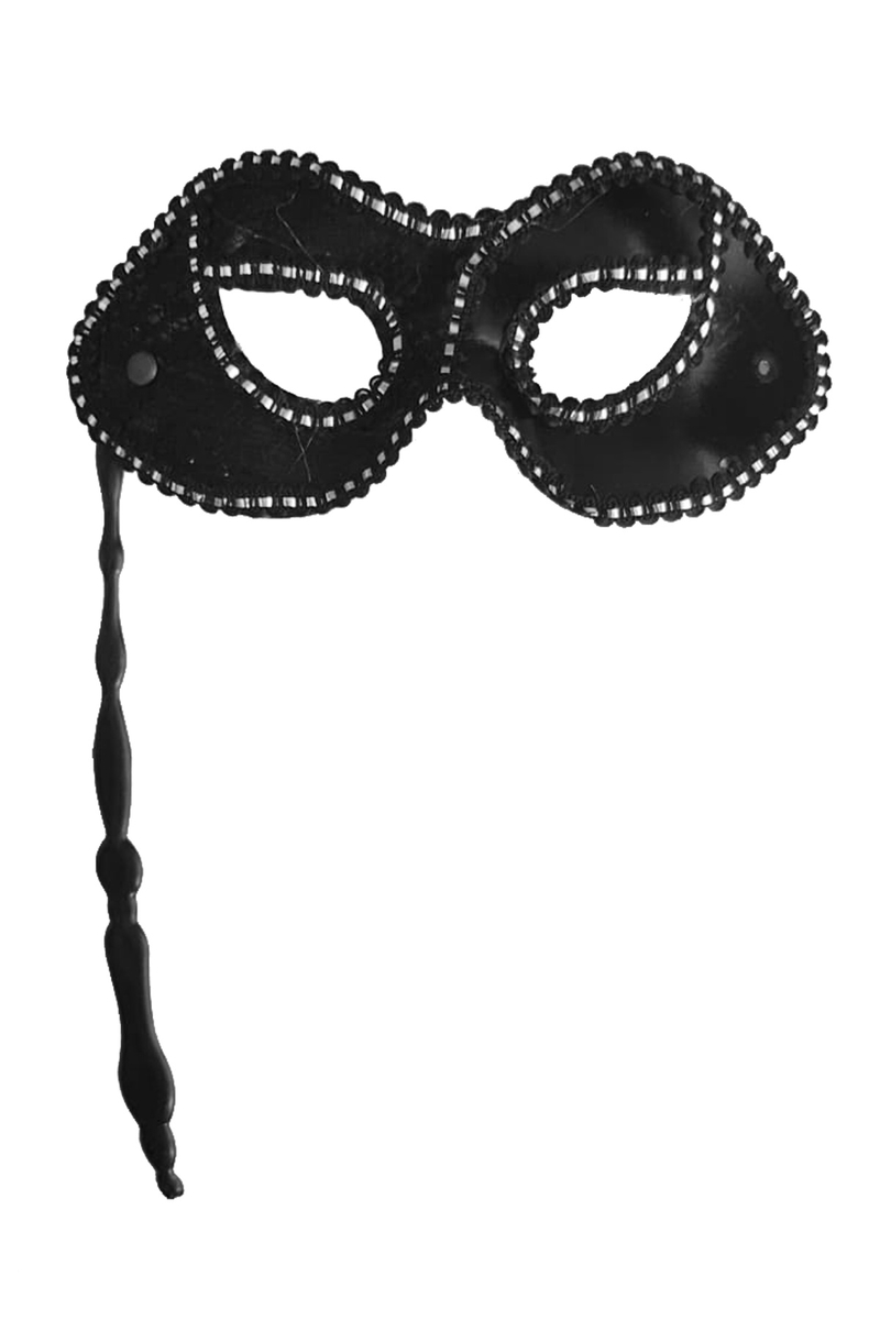 Sopalı Kumaş Balo Maske Siyah 1 Adet