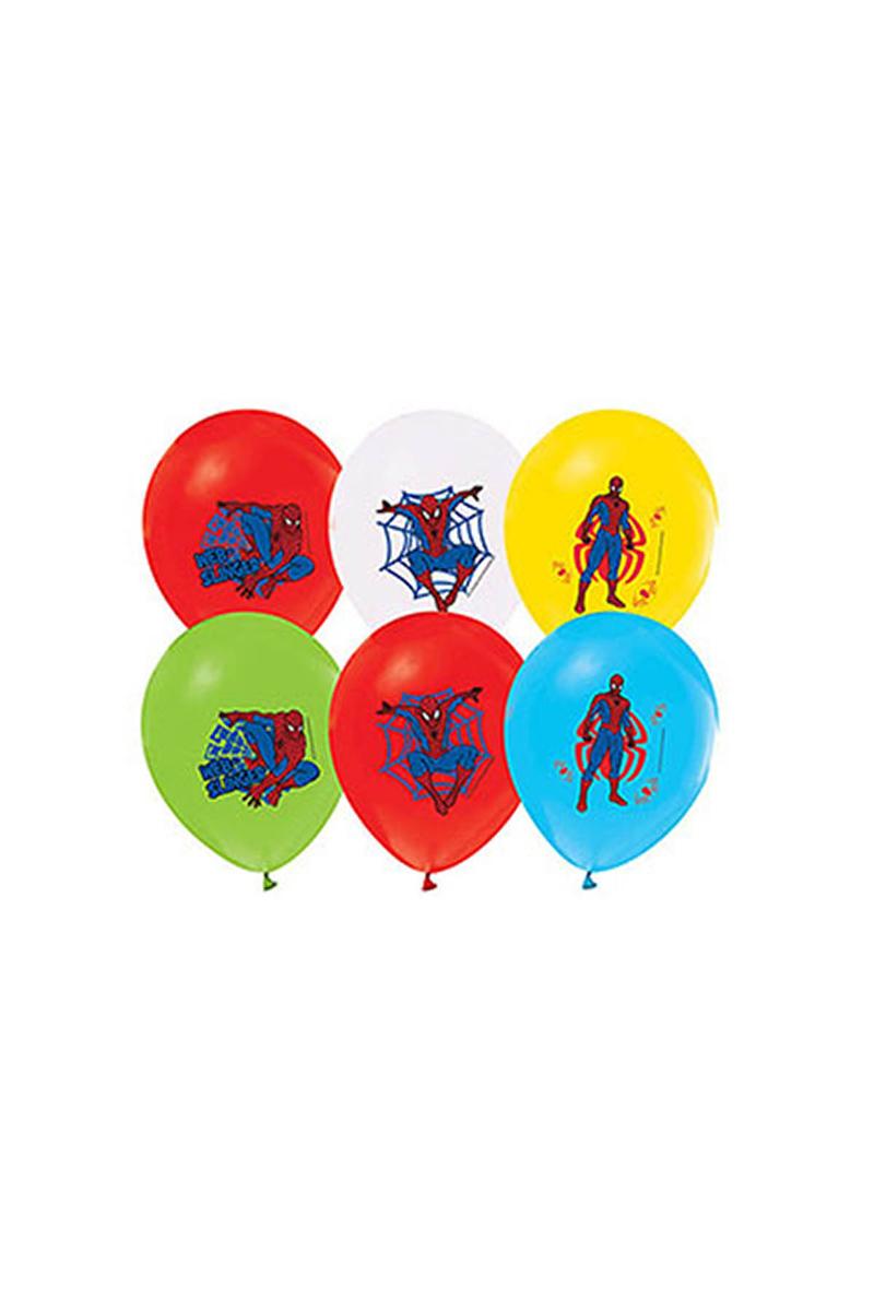 Spiderman Baskılı Balon 10lu - Thumbnail