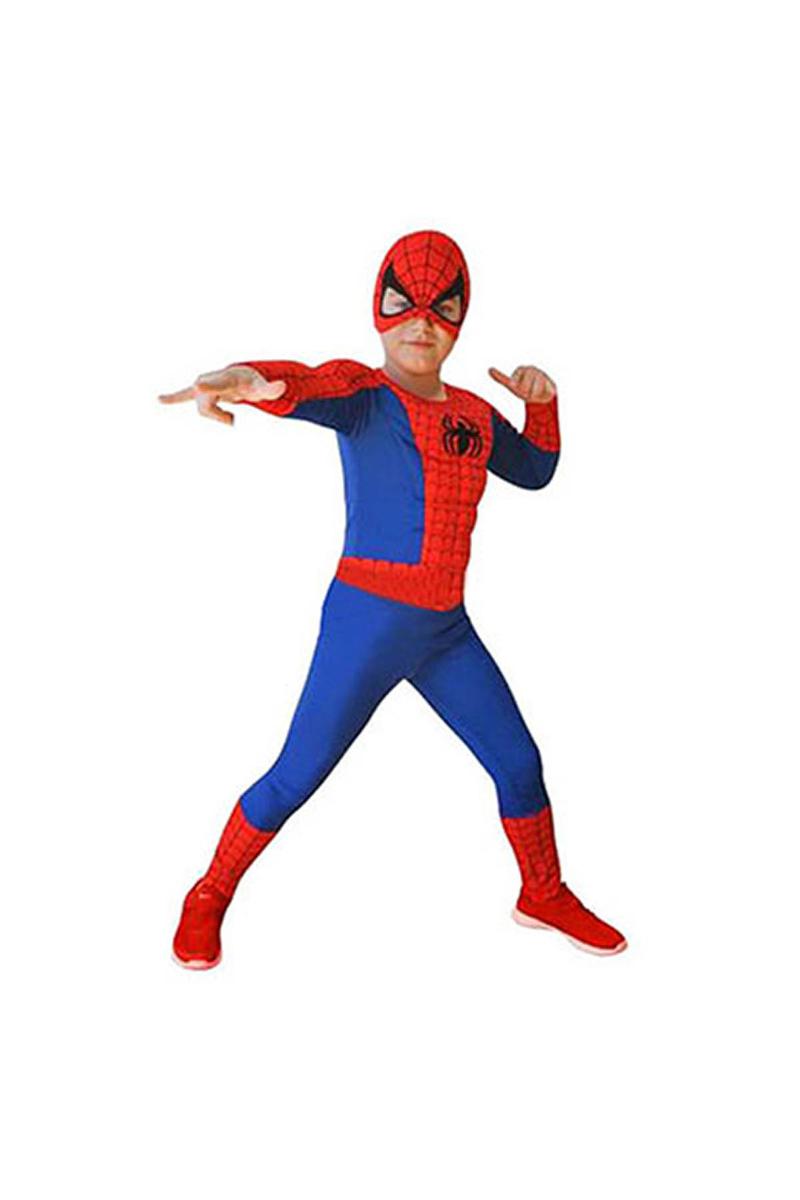 Spiderman Kaslı Çocuk Kostüm 7-9 yaş 1 Adet