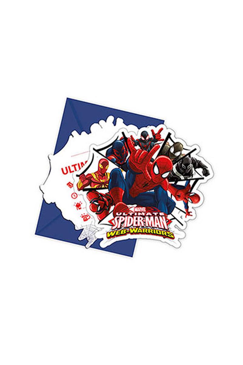Spiderman Savaşçı Davetiye 6lı