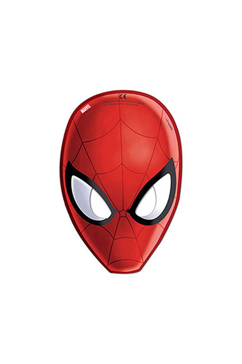 Spiderman Savaşçı Kağıt Maske 6lı
