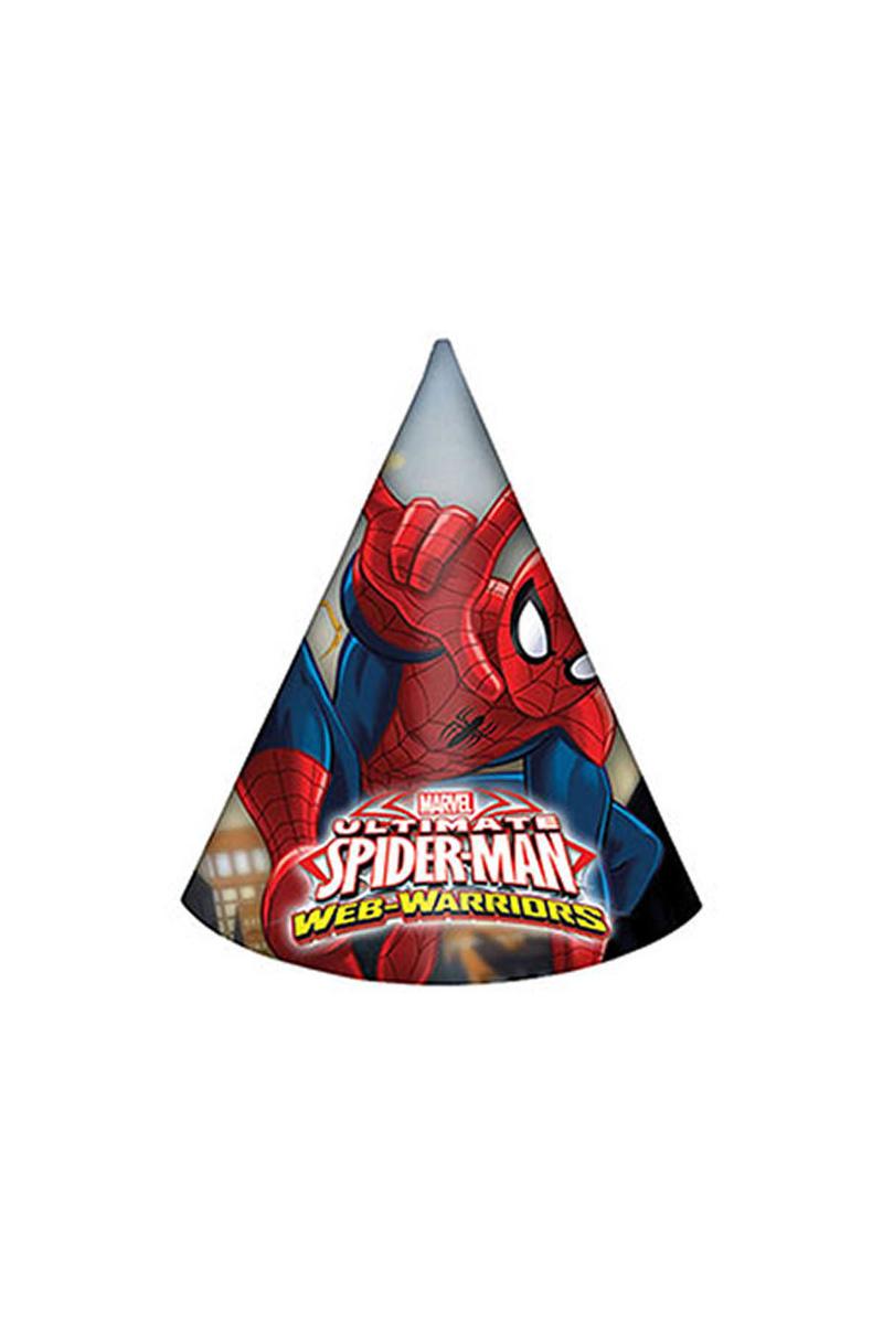 Spiderman Savaşçı Külah Şapka 6lı