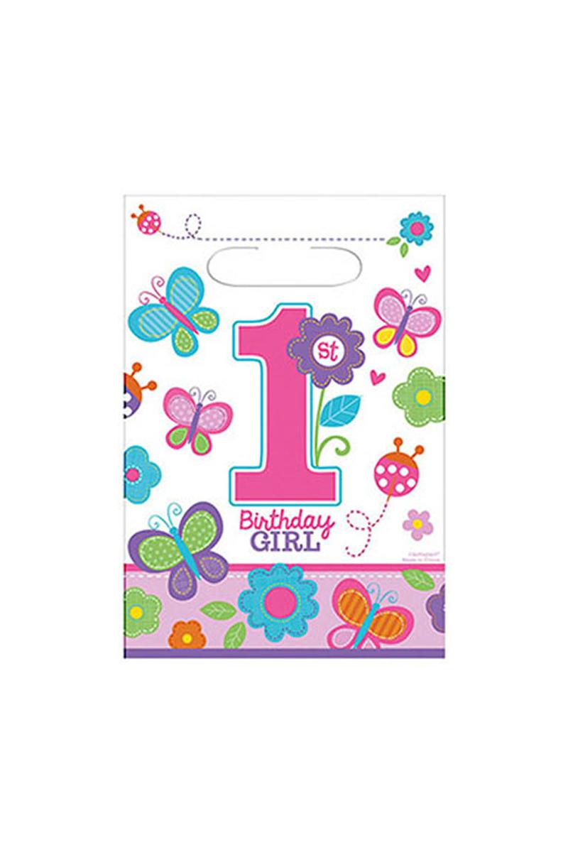 Tatlı 1 Yaş Kız Plastik Parti Çantası 8li