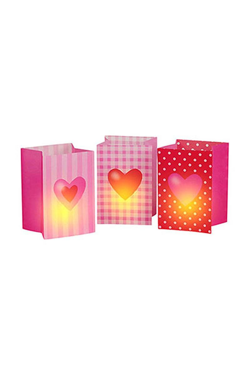 Tatlı Kalpler Kağıt Mumluk 3lü