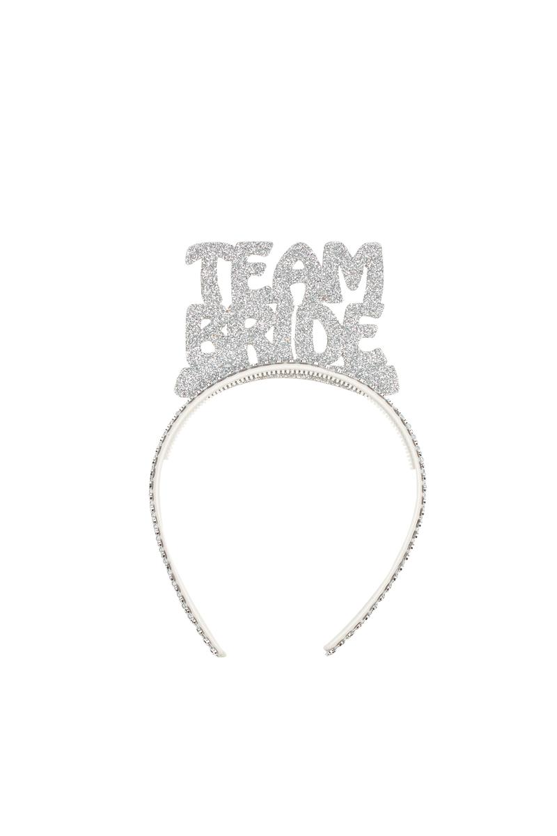 Team Bride Gümüş Simli Eva Parti Taç 1 Adet