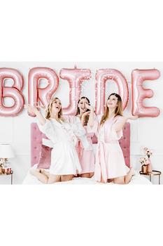 Team Bride Rose Gold Baskılı Beyaz Kuşak 10x75cm 1 Adet - Thumbnail