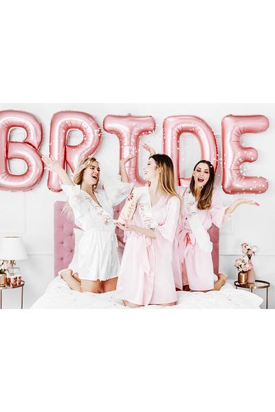 Team Bride Rose Gold Baskılı Beyaz Kuşak 10x75cm 1 Adet