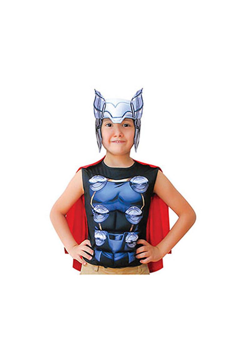 Thor Kısa Kollu Çocuk Kostüm 4-6 Yaş 1 Adet