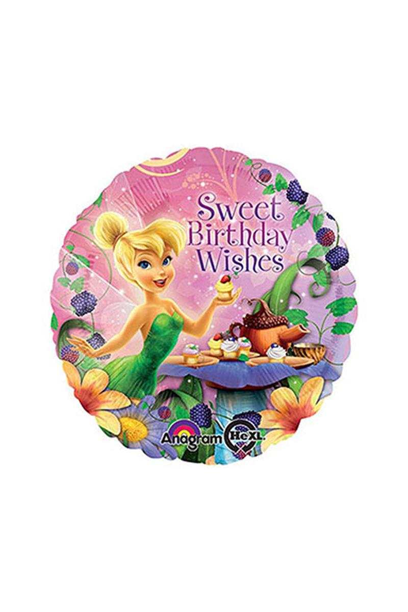 Tinkerbell Happy Birthday Folyo Balon 45cm 1 Adet