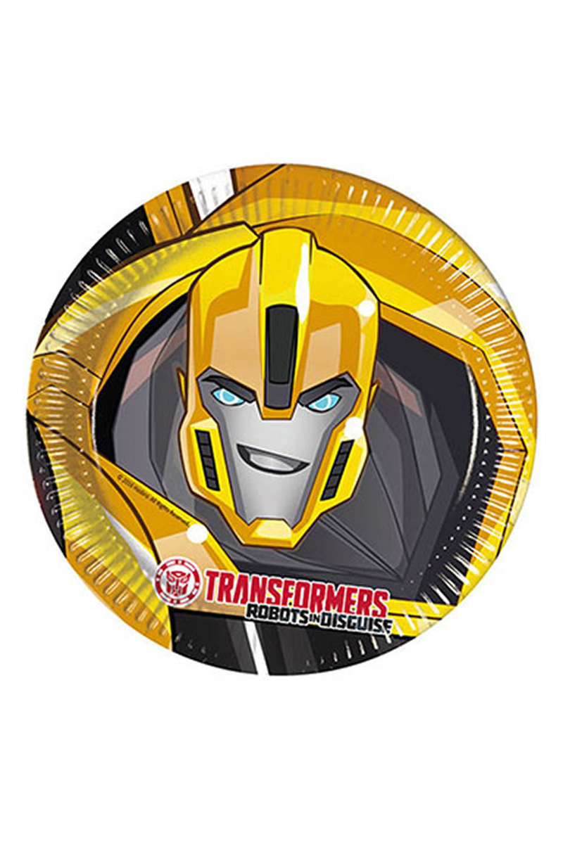 Transformers Kağıt Tabak 23cm 8li