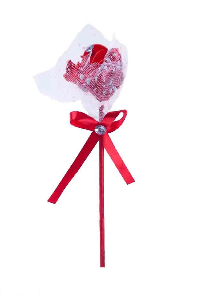 Kırmızı Tüllü Gül 35cm 1 Adet