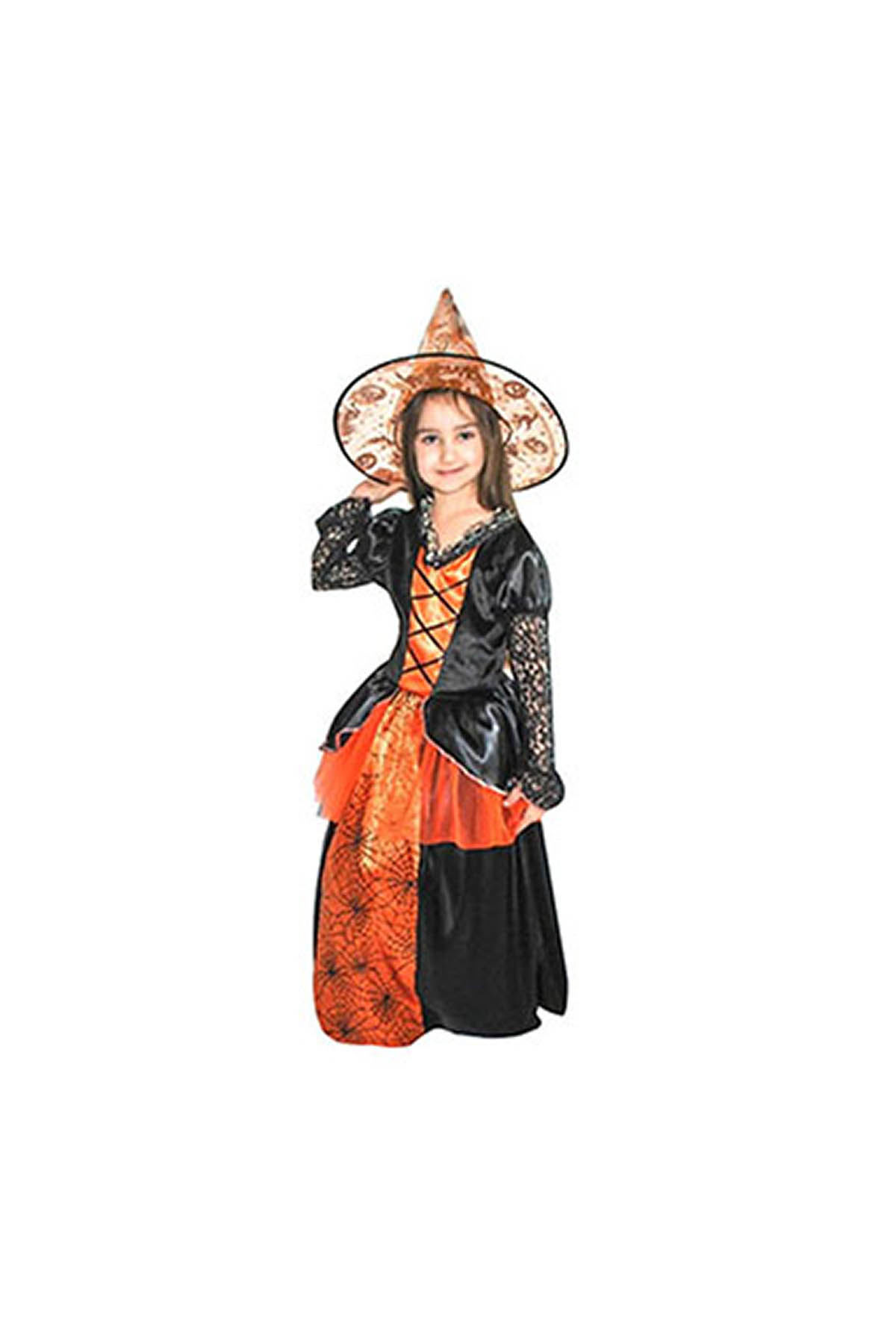 Turuncu Cadı Kostüm 4-6 Yaş