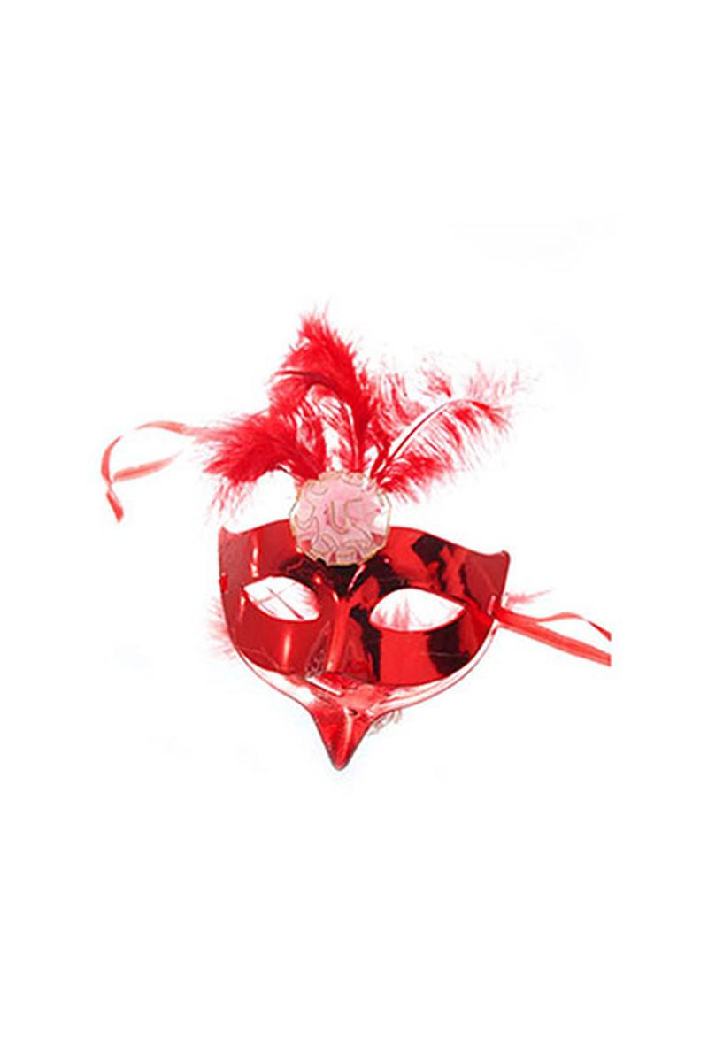 Tüylü Maske Kırmızı 1 Adet