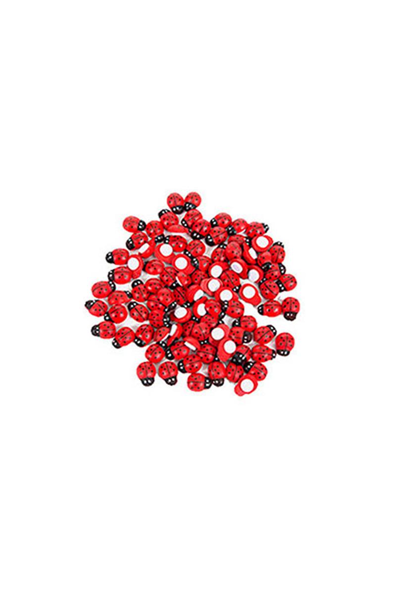 Uğur Böceği Kırmızı Sticker Büyük 100lü