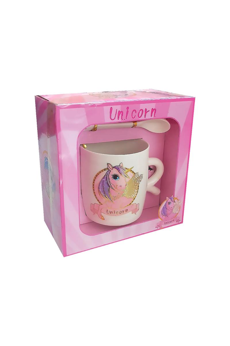 Unicorn Hediye Kupa-Kaşık Set 1 Adet - Thumbnail
