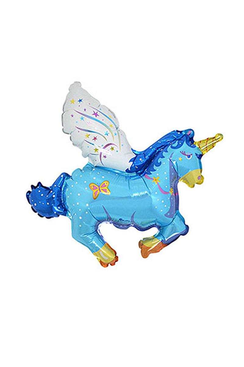 Unicorn Minishape Folyo Balon Mavi 40cm x 40cm 1 Adet