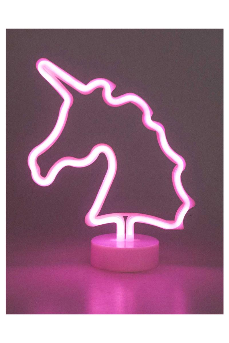 Unicorn Pilli Işıklı Dekor Süs 13 x 10 x 31cm 1 Adet - Thumbnail